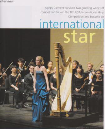 Magazine Harp Column Agnès CLément