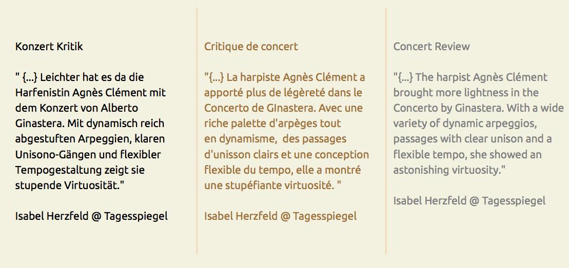 critique de concert